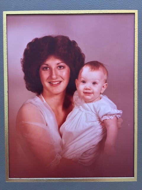 Mom and me at 6 months